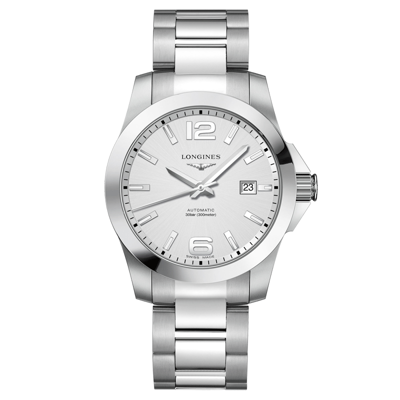 montre automatique bracelet acier Longines Conquest