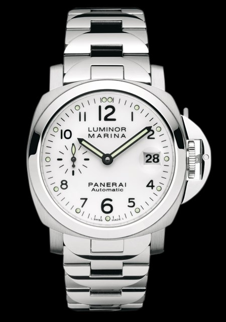 montre automatique bracelet acier Panerai Luminor Marina