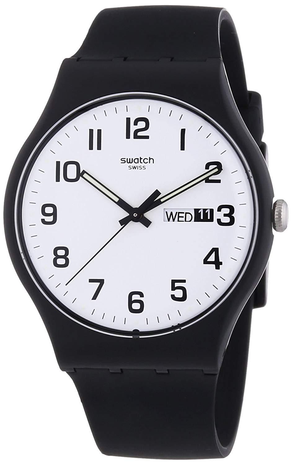 montre swatch homme automatique Twice Again White Dial SUOB705