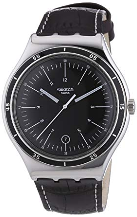 montre swatch homme automatique Irony Trueville Black Dial YWS400